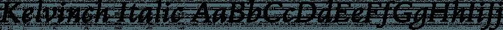 Kelvinch Italic free font