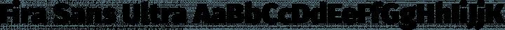 Fira Sans Ultra free font