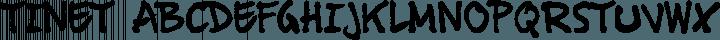 Tinet Regular free font