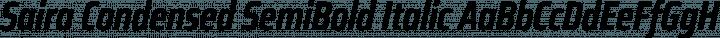 Saira Condensed SemiBold Italic free font