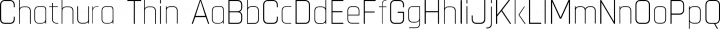 Chathura Thin free font