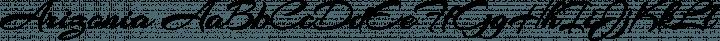 Arizonia Regular free font