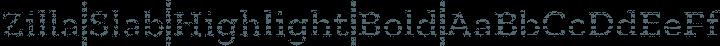 Zilla Slab Highlight Bold free font