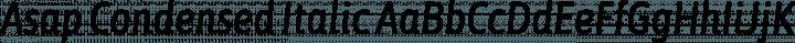 Asap Condensed Italic free font