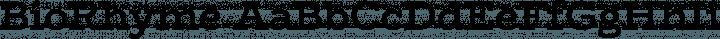 BioRhyme Regular free font