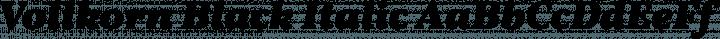 Vollkorn Black Italic free font