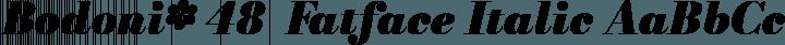 Bodoni* 48  Fatface Italic free font