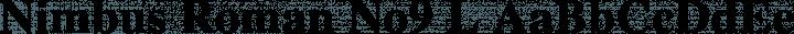 Nimbus Roman No9 L font family by URW++