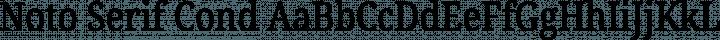 Noto Serif Cond Regular free font
