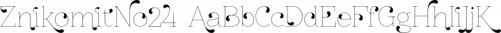 ZnikomitNo24 Regular free font