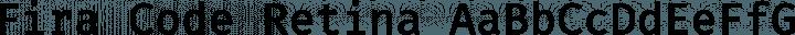 Fira Code Retina free font