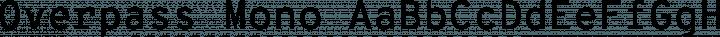 Overpass Mono Regular free font