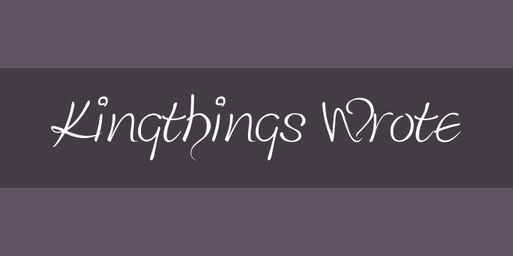 kingthings wrote font