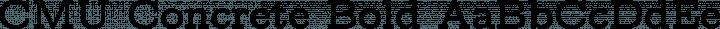 CMU Concrete Bold free font