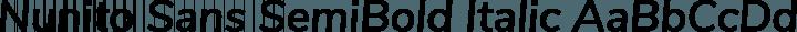 Nunito Sans SemiBold Italic free font