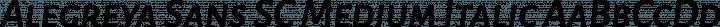 Alegreya Sans SC Medium Italic free font