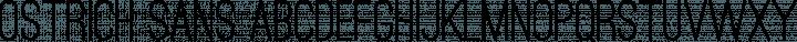 Ostrich Sans Regular free font