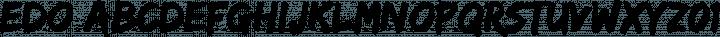 Edo Regular free font