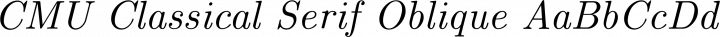 CMU Classical Serif Oblique free font