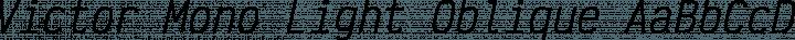 Victor Mono Light Oblique free font