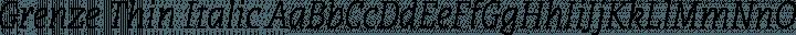 Grenze Thin Italic free font