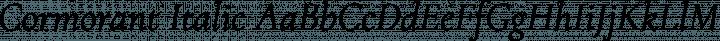 Cormorant Italic free font