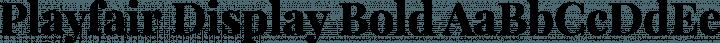 Playfair Display Bold free font