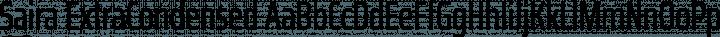 Saira ExtraCondensed Regular free font