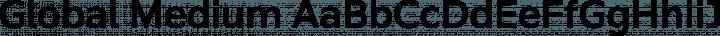 Global Medium free font