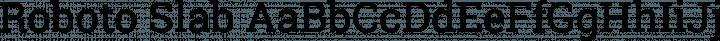 Roboto Slab Regular free font
