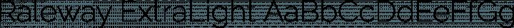 Raleway ExtraLight free font