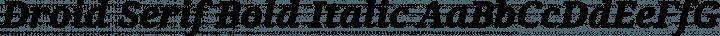 Droid Serif Bold Italic free font