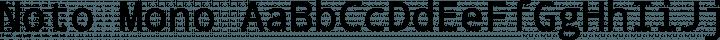 Noto Mono Regular free font