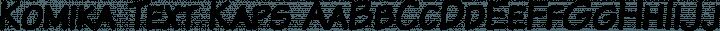Komika Text Kaps Regular free font