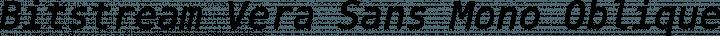 Bitstream Vera Sans Mono Oblique free font