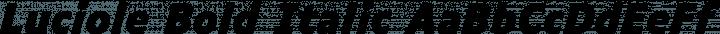 Luciole Bold Italic free font