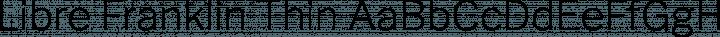 Libre Franklin Thin free font