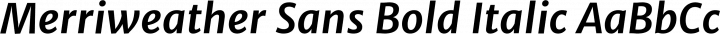 Merriweather Sans Bold Italic free font