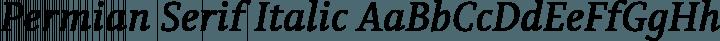 Permian Serif Italic free font
