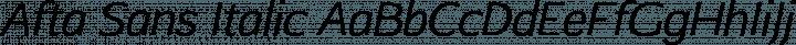 Afta Sans Italic free font