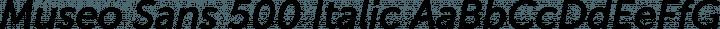Museo Sans 500 Italic free font