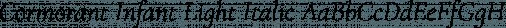 Cormorant Infant Light Italic free font