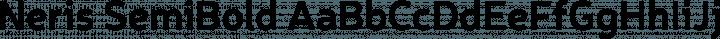 Neris SemiBold free font