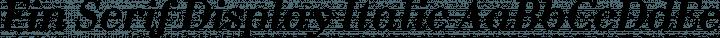 Fin Serif Display Italic free font