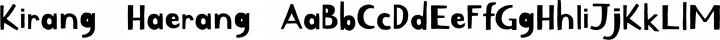 Kirang Haerang Regular free font