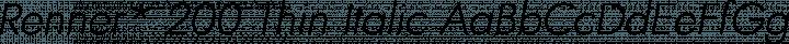 Renner* 200 Thin Italic free font