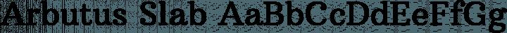 Arbutus Slab font family by Karolina Lach