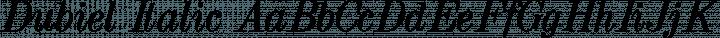 Dubiel Italic free font