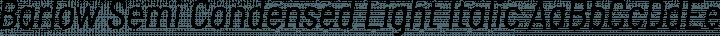 Barlow Semi Condensed Light Italic free font