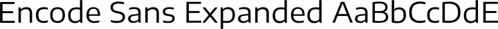 Encode Sans Expanded Regular free font